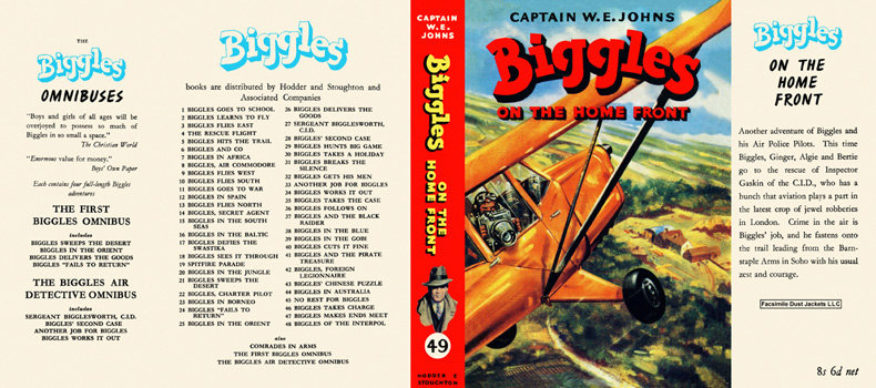 Biggles on the Home Front. Captain W. E. Johns.