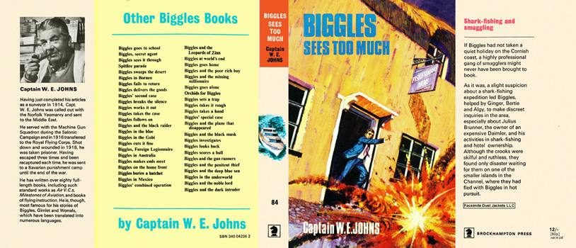 Biggles Sees Too Much. Captain W. E. Johns.