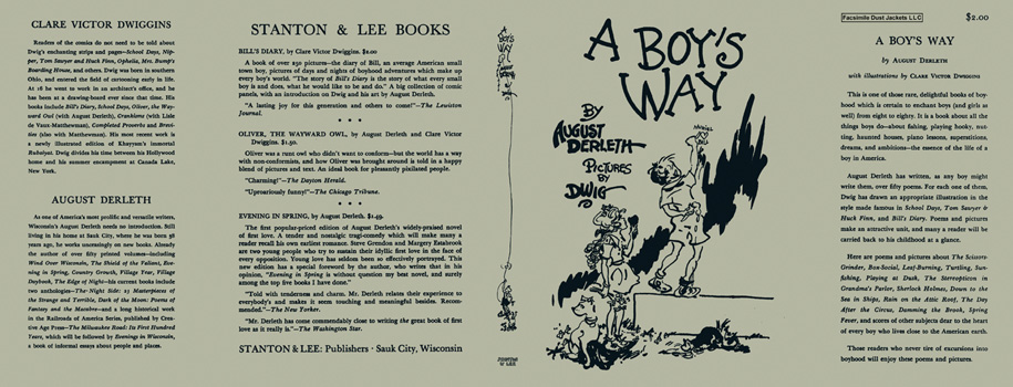 Boy's Way, A. August Derleth, Clare Victor Dwiggins