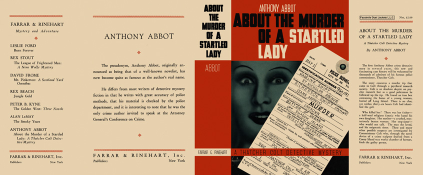 About the Murder of a Startled Lady. Anthony Abbot.