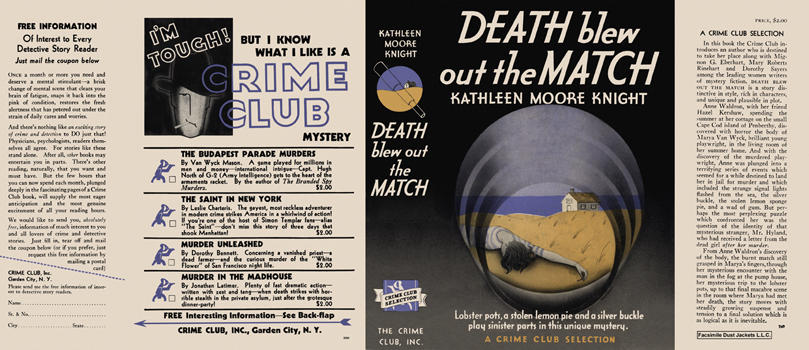 Death Blew Out the Match. Kathleen Moore Knight.