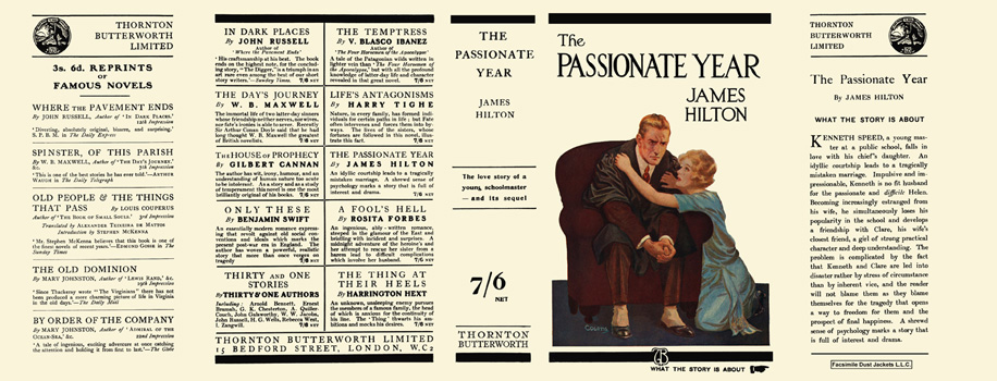 Passionate Year, The. James Hilton