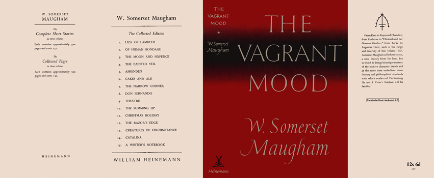 Vagrant Mood, The. W. Somerset Maugham.