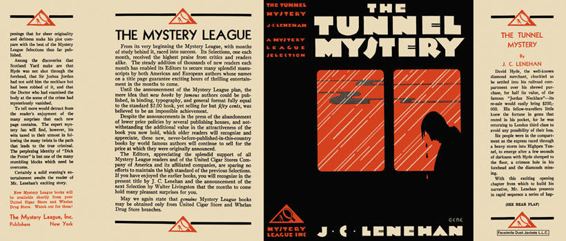 Tunnel Mystery, The. J. C. Lenehan.