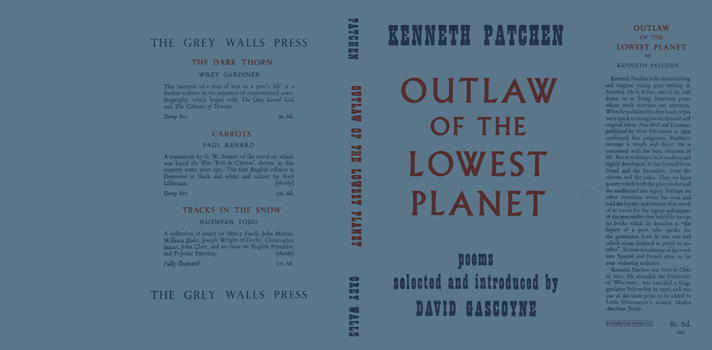 Outlaw of the Lowest Planet. Kenneth Patchen.
