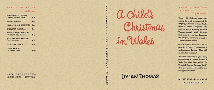 Child's Christmas in Wales, A. Dylan Thomas