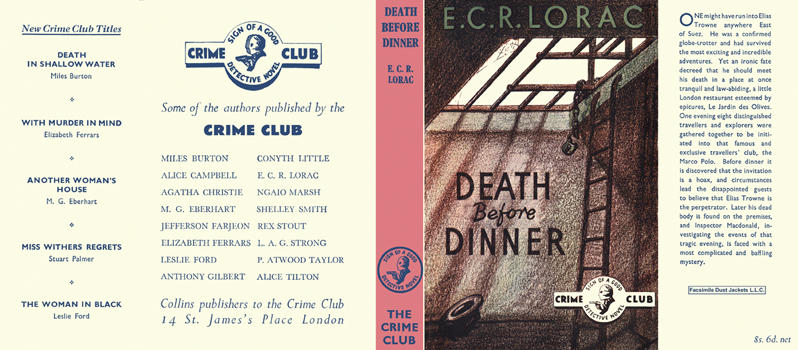 Death Before Dinner. E. C. R. Lorac