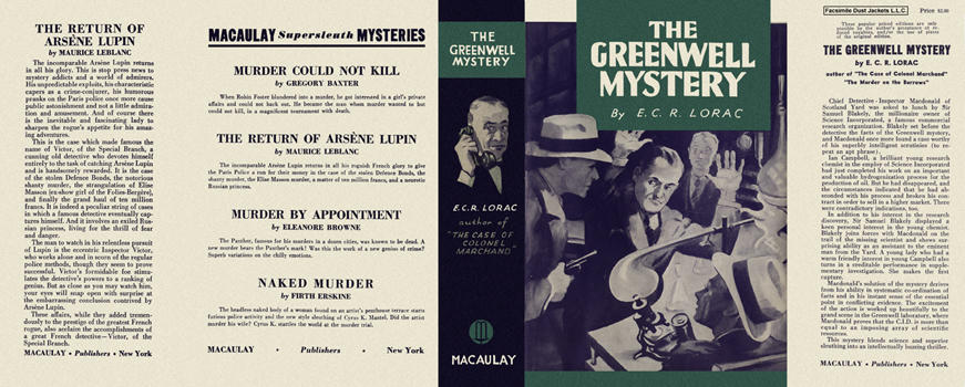 Greenwell Mystery, The. E. C. R. Lorac.