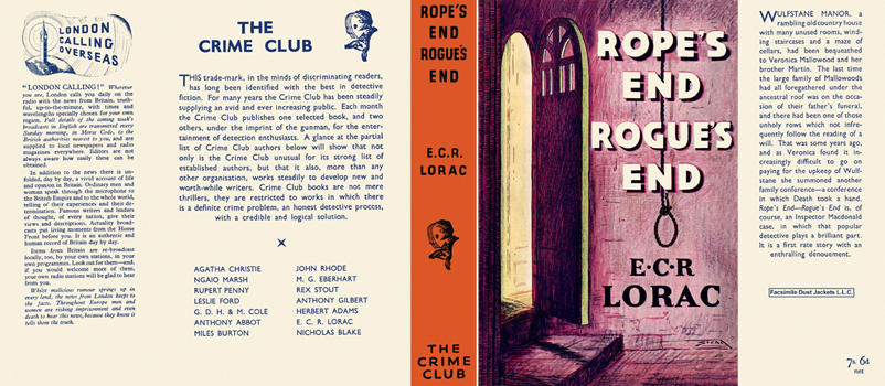 Rope's End, Rogue's End. E. C. R. Lorac