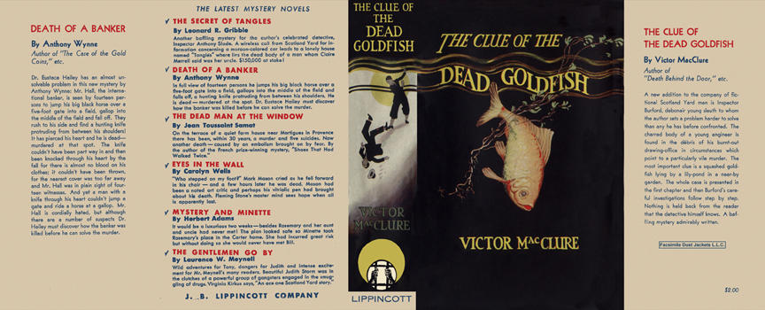 Clue of the Dead Goldfish, The. Victor MacClure
