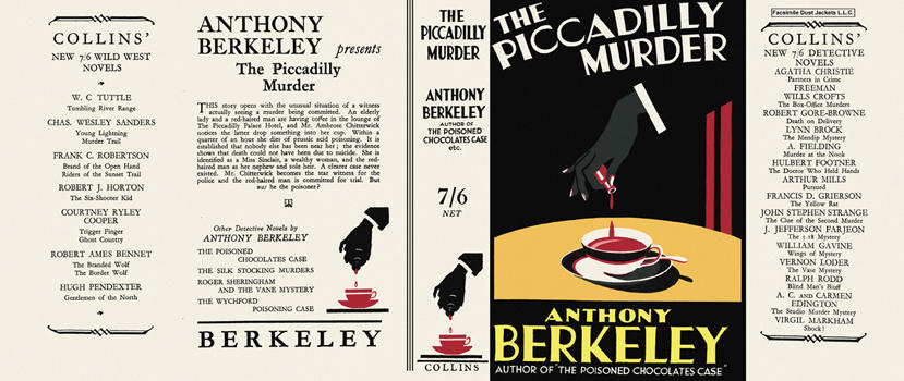 Piccadilly Murder, The. Anthony Berkeley