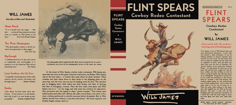 Flint Spears, Cowboy Rodeo Contestant. Will James.