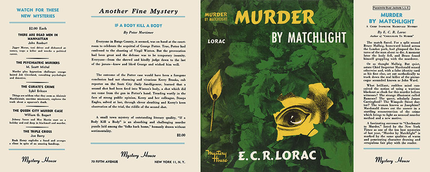 Murder by Matchlight. E. C. R. Lorac.