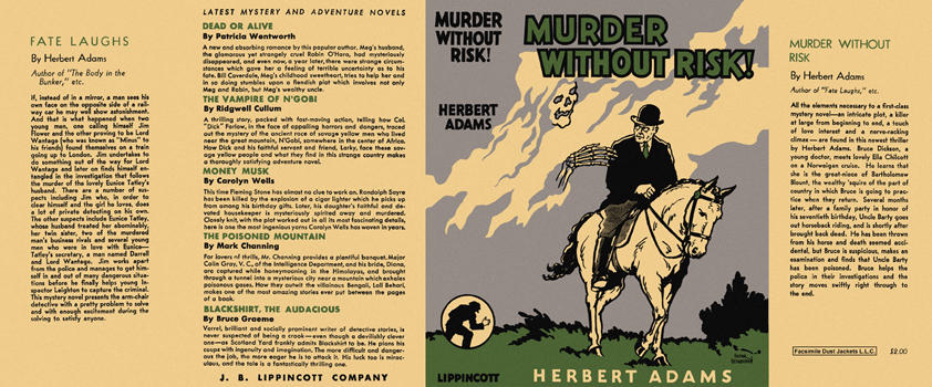 Murder Without Risk! Herbert Adams