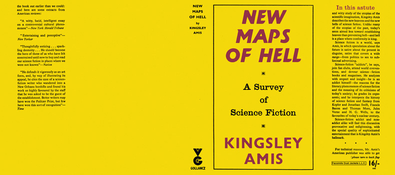 New Maps of Hell, A Survey of Science Fiction. Kingsley Amis