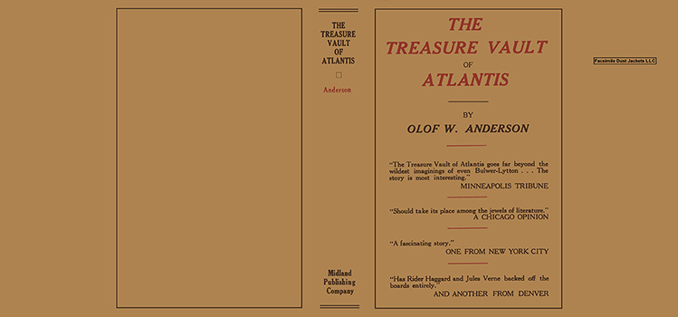 Treasure Vault of Atlantis, The. Olof W. Anderson.