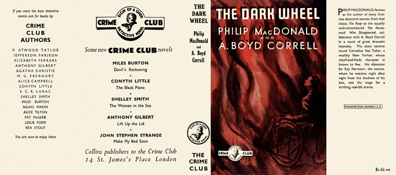 Dark Wheel, The. Philip MacDonald, A. Boyd Correll.