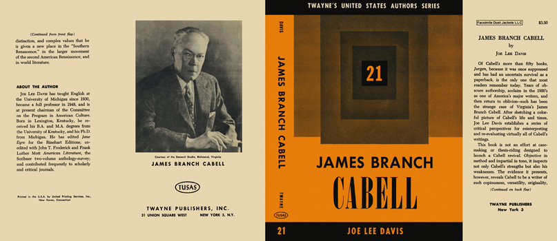 James Branch Cabell. Joe Lee Davis