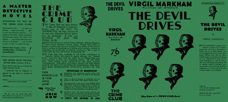 Devil Drives, The. Virgil Markham.