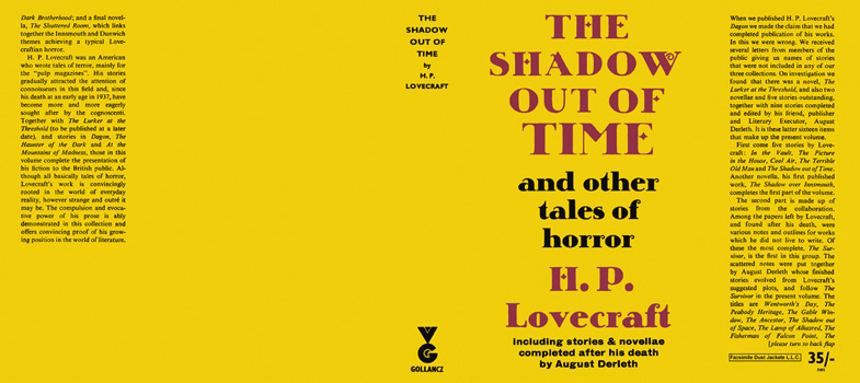Shadow Out of Time and Other Tales of Horror, The. H. P. Lovecraft