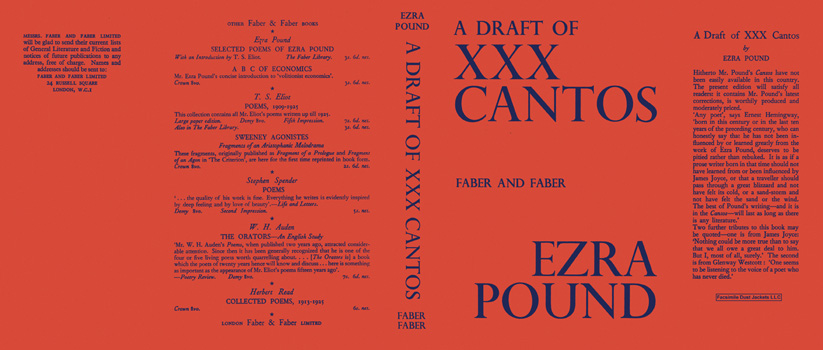 Draft of XXX Cantos, A. Ezra Pound