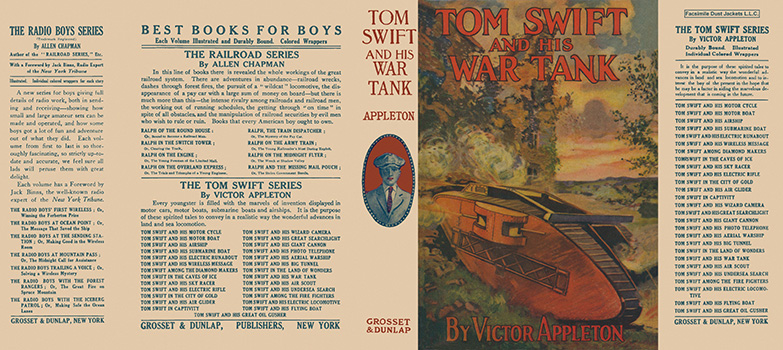 Tom Swift #21: Tom Swift and His War Tank. Victor Appleton.