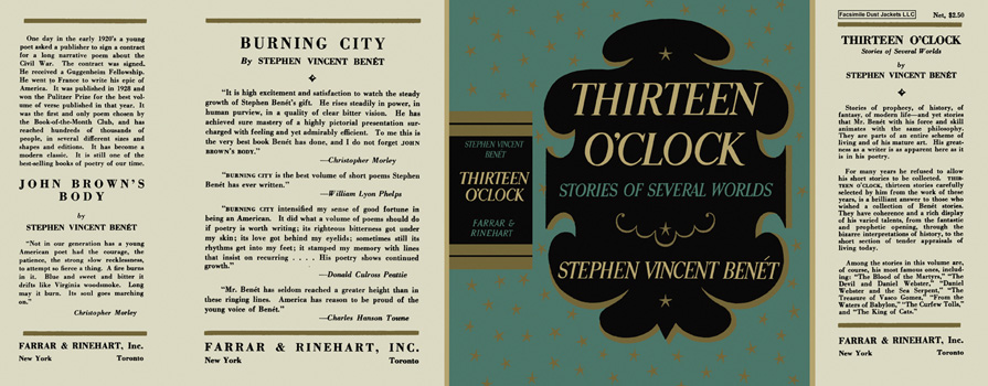 Thirteen O'Clock. Stephen Vincent Benet.