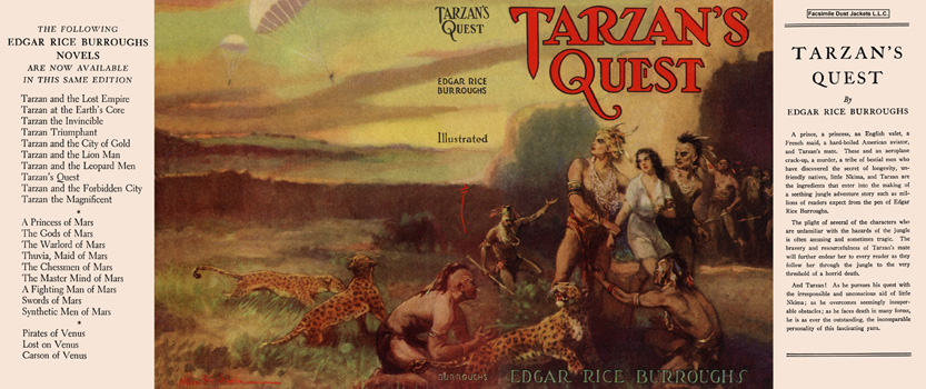 Tarzan's Quest. Edgar Rice Burroughs.