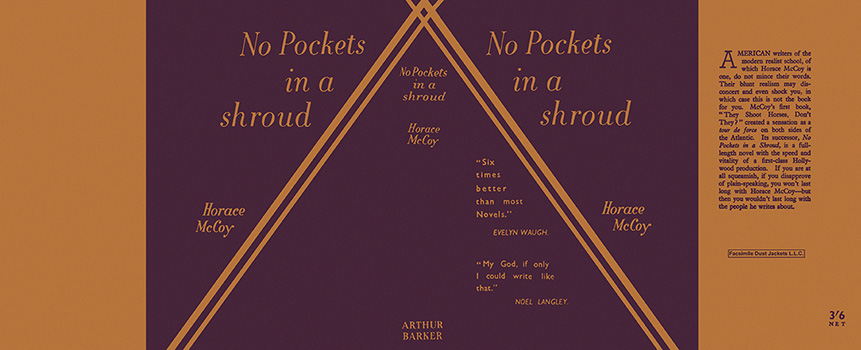 No Pockets in a Shroud. Horace McCoy.