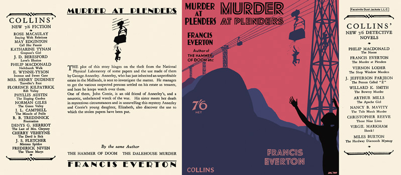 Murder at Plenders. Francis Everton.