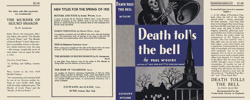 Death Tolls the Bell. Paul McGuire.