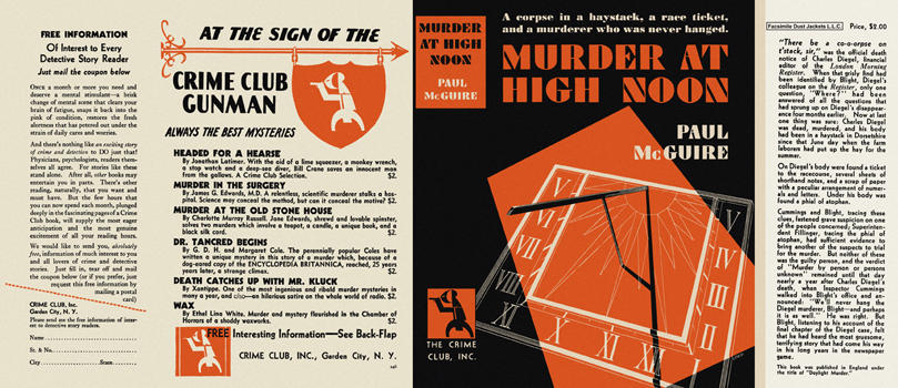 Murder at High Noon. Paul McGuire.