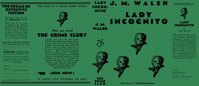 Lady Incognito. J. M. Walsh.