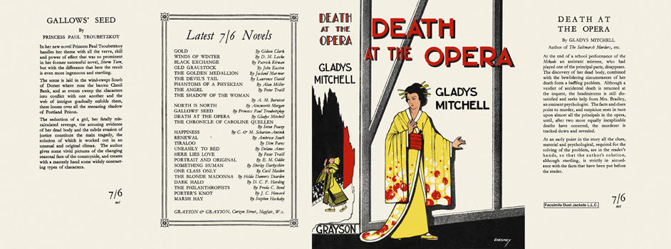 Death at the Opera. Gladys Mitchell