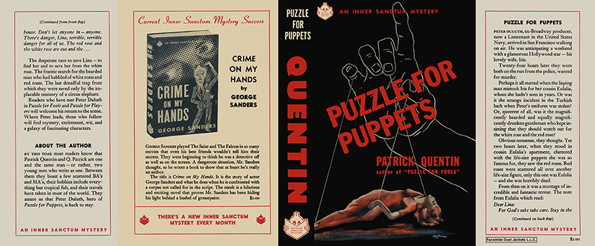 Puzzle for Puppets. Patrick Quentin.