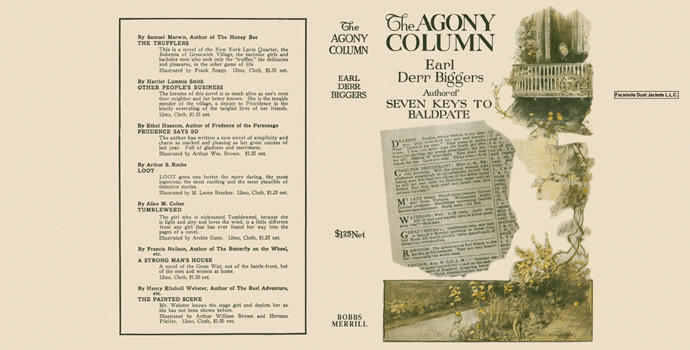 Agony Column, The. Earl Derr Biggers