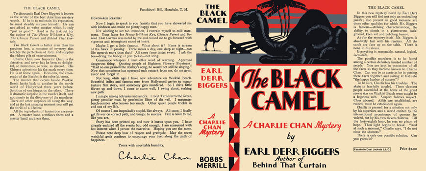 Black Camel, The. Earl Derr Biggers