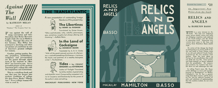 Relics and Angels. Hamilton Basso