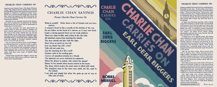 Charlie Chan Carries On. Earl Derr Biggers