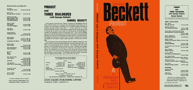 Proust and Three Dialogues with Georges Duthuit. Samuel Beckett.