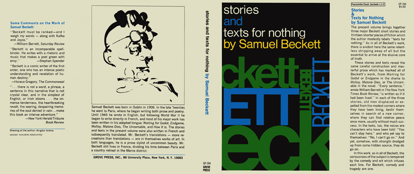 Stories and Texts for Nothing. Samuel Beckett