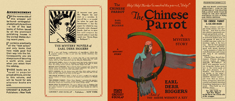 Chinese Parrot, The. Earl Derr Biggers