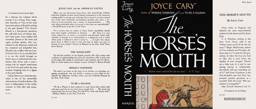 Horse's Mouth, The. Joyce Cary.