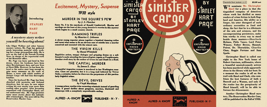 Sinister Cargo. Stanley Hart Page.
