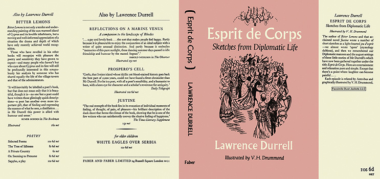 Esprit de Corps, Sketches from Diplomatic Life. Lawrence Durrell, V. H. Drummond