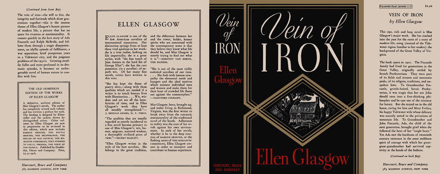 Vein of Iron. Ellen Glasgow.