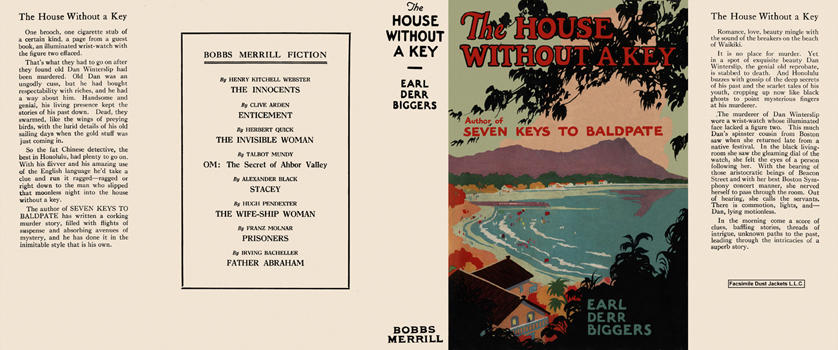 House Without a Key, The. Earl Derr Biggers