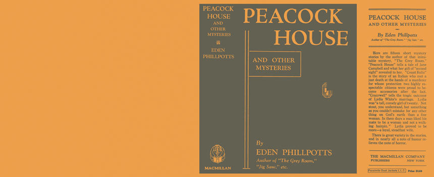 Peacock House and Other Mysteries. Eden Phillpotts.
