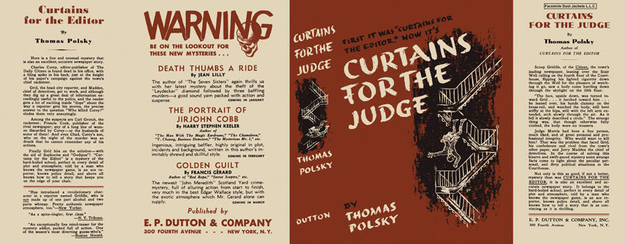 Curtains for the Judge. Thomas Polsky.