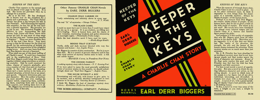 Keeper of the Keys. Earl Derr Biggers